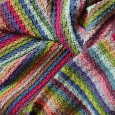 Hydrangea Stripe Blanket Attic24