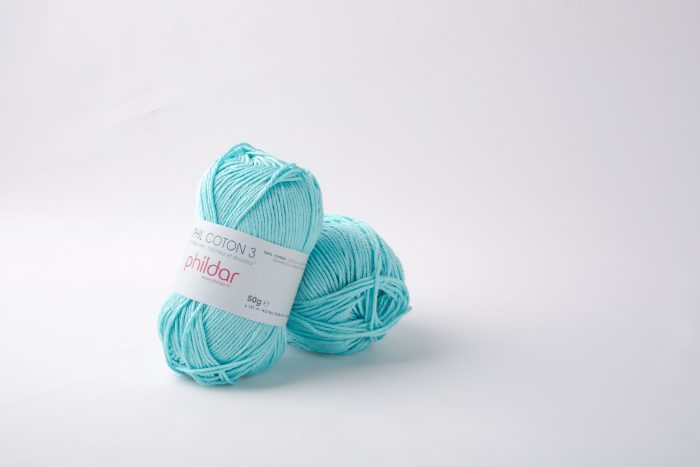Phildar coton 3 1463 cyan