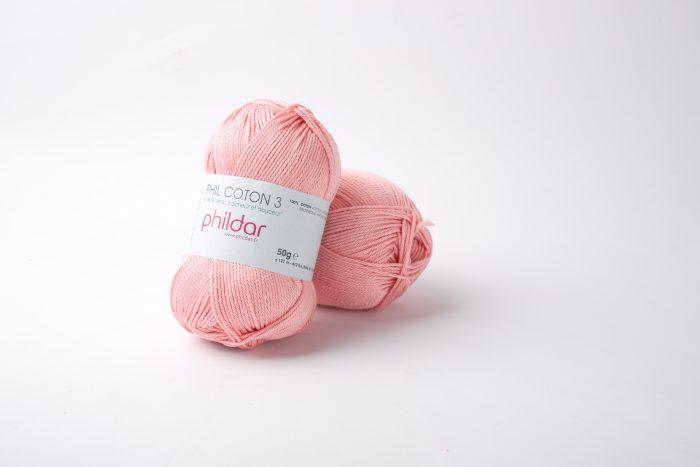 Phildar coton 3 1092 rose saumon