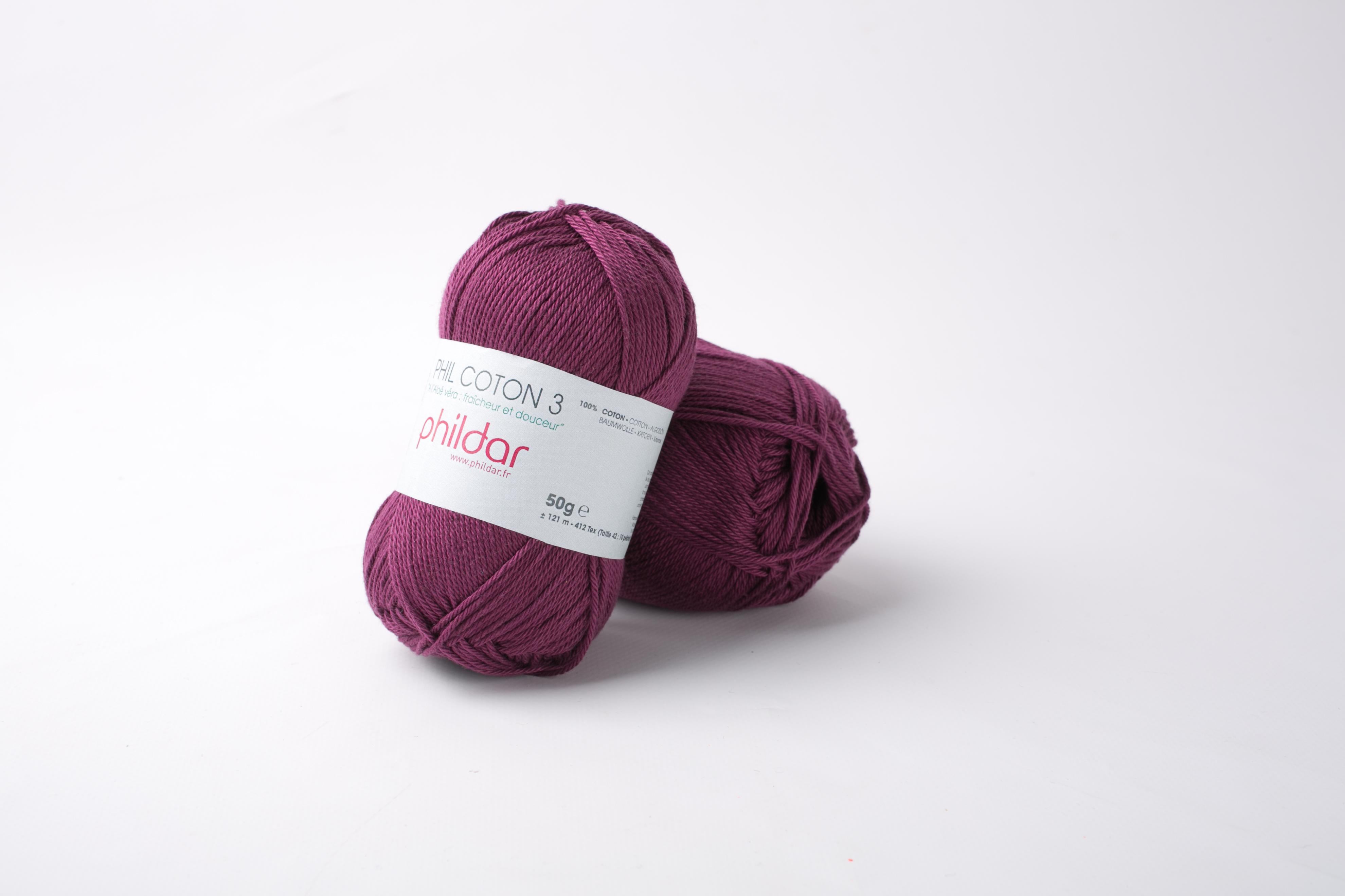 Phildar coton 3 1420 prune