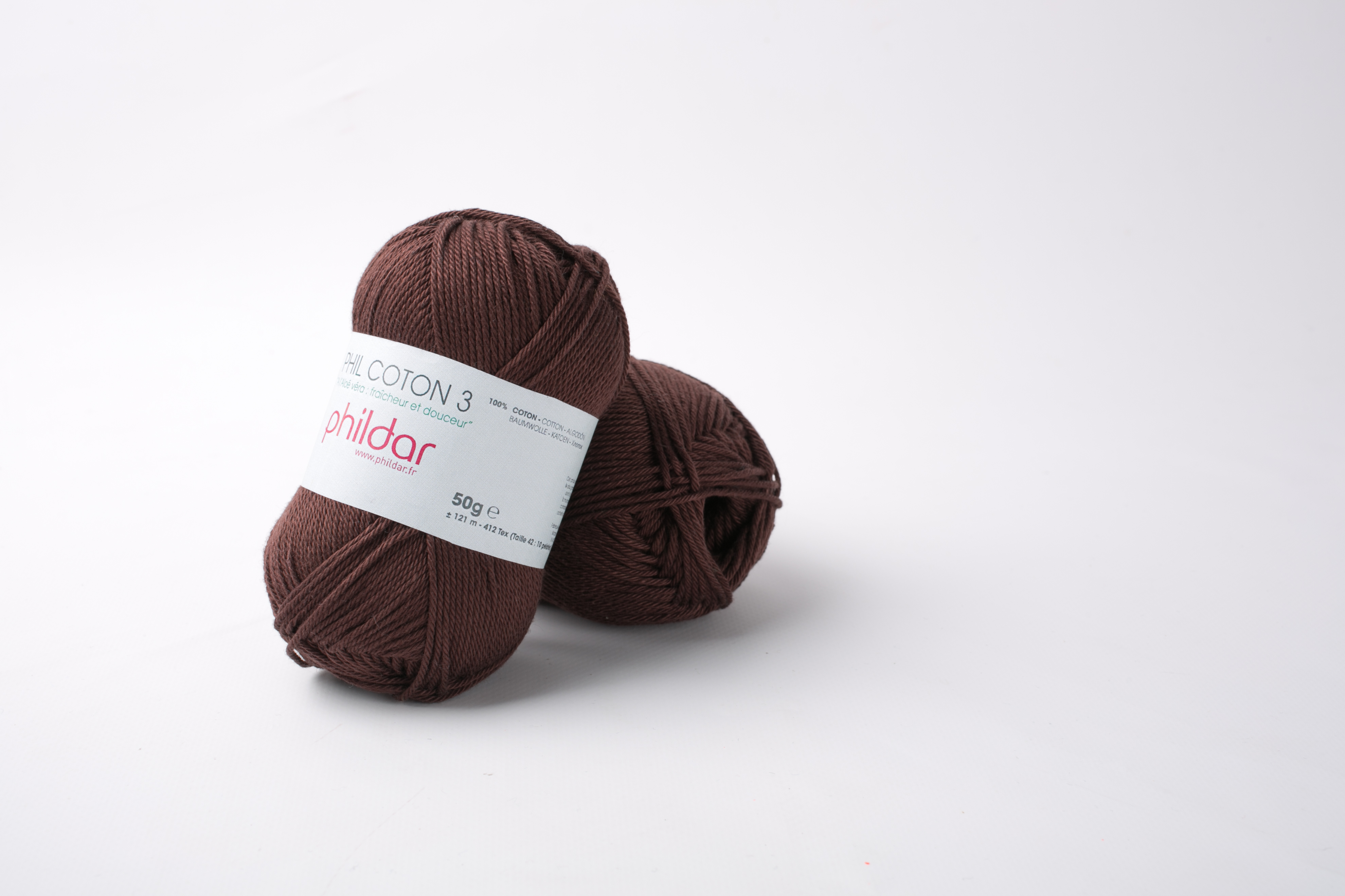 Phildar coton 3 1164 marron
