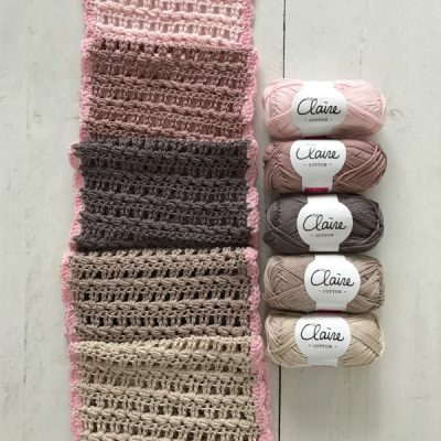 Haakpakket 5 kleuren sjaal