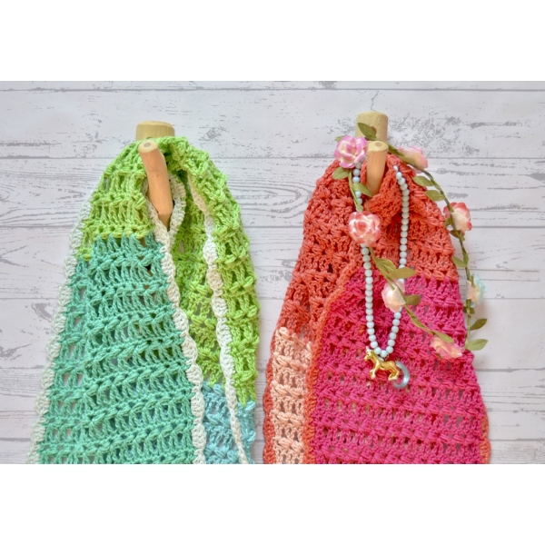 byClaire 5 kleuren sjaal roze