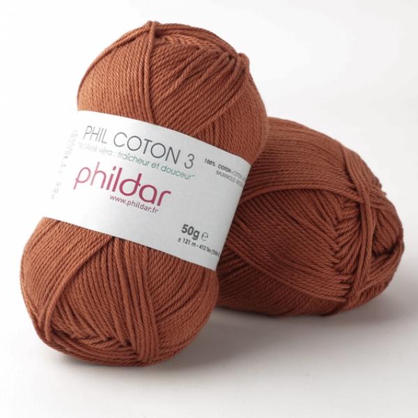 Phildar coton 3 0057 ecureuil