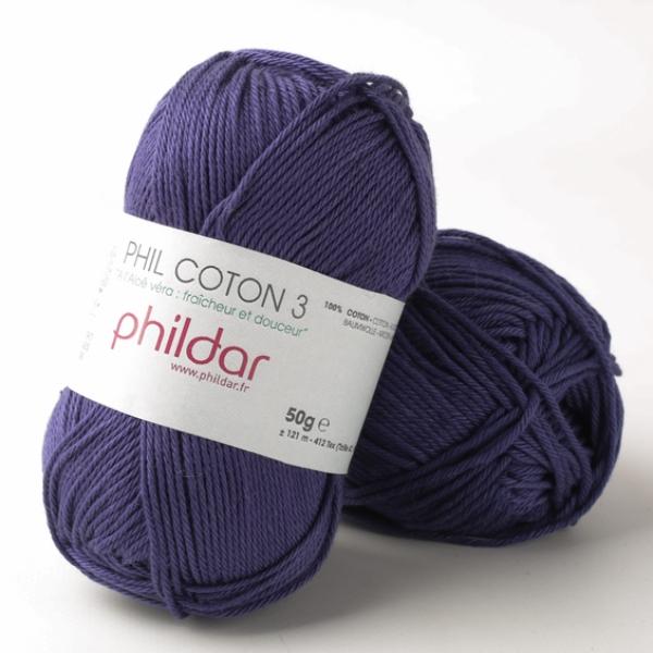 Phildar coton 3 0102 encre