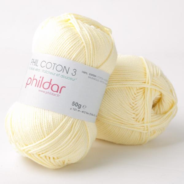 Phildar coton 3 2019 poussin
