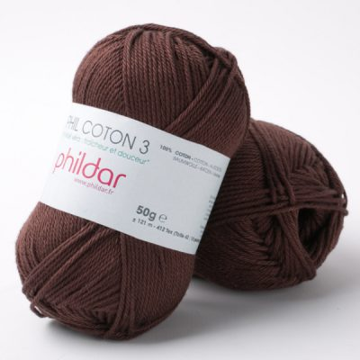 Phildar coton 3 2038 bordeaux