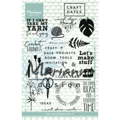 Clear stamp Craft dates 1