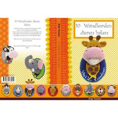 Boek 10 Wandborden dieren haken