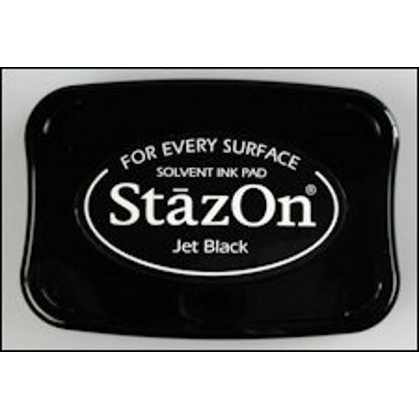 StazOn stempelkussen jet black