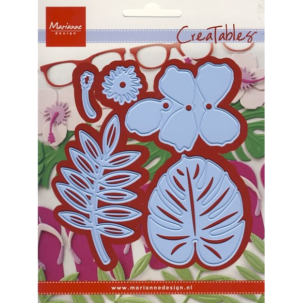 Creatables Hibiscus & tropical leaves