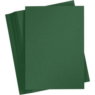 Gekleurd karton dennegroen A4, per stuk