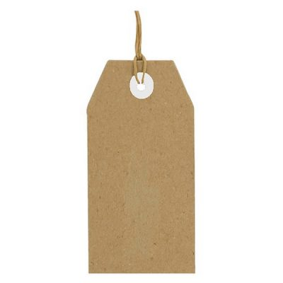 label karton bruin 25 stuks, 94 x 47 mm