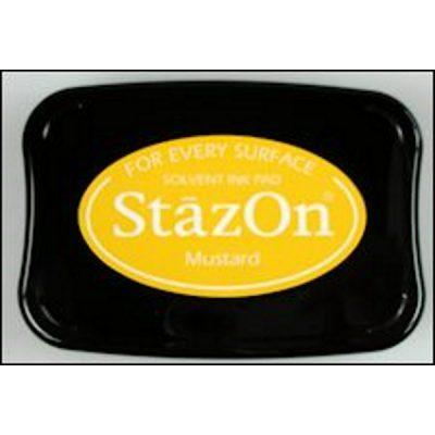 StazOn stempelkussen mustard