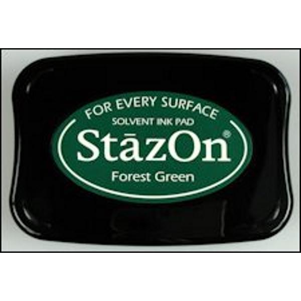 StazOn stempelkussen forest green
