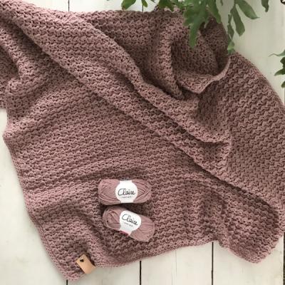 Haakpakket Byclaire deken vintage pink