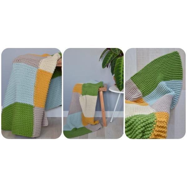 Breipakket ByClaire & Friends - Chunky blokken deken