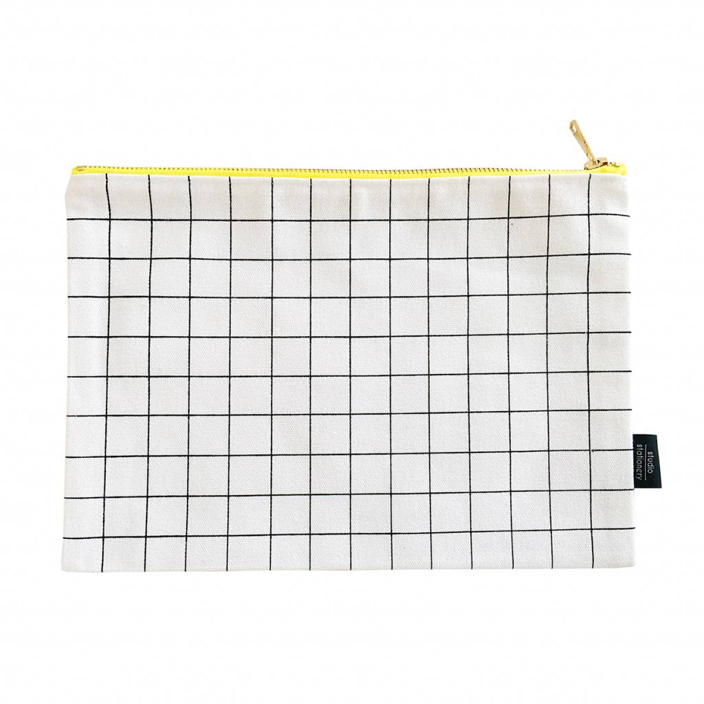 Canvas bag grid XL