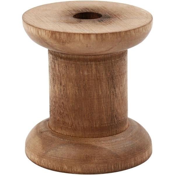 Vintage spoel van hout 50mm