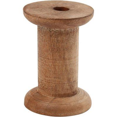 Vintage spoel van hout 70mm
