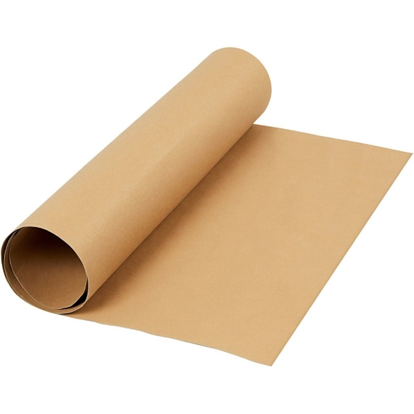 Faux Leather Papier light brown, 50x100cm