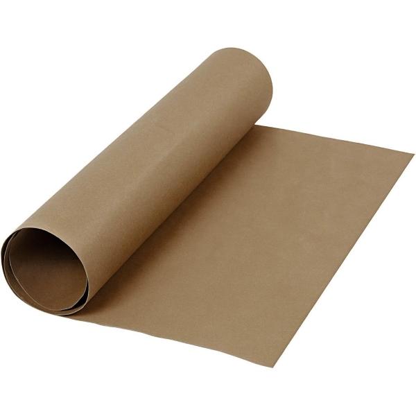Faux Leather Papier dark brown, 50x100cm