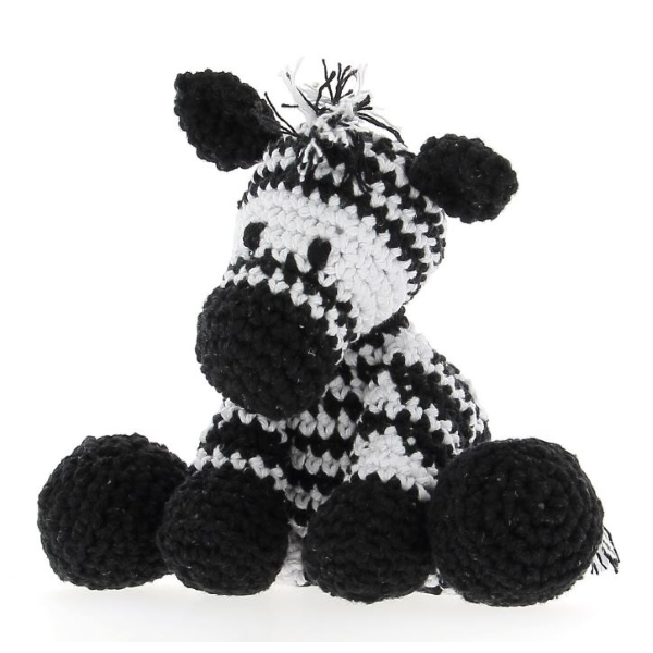 Haakpakket Zebra Zizi - noir