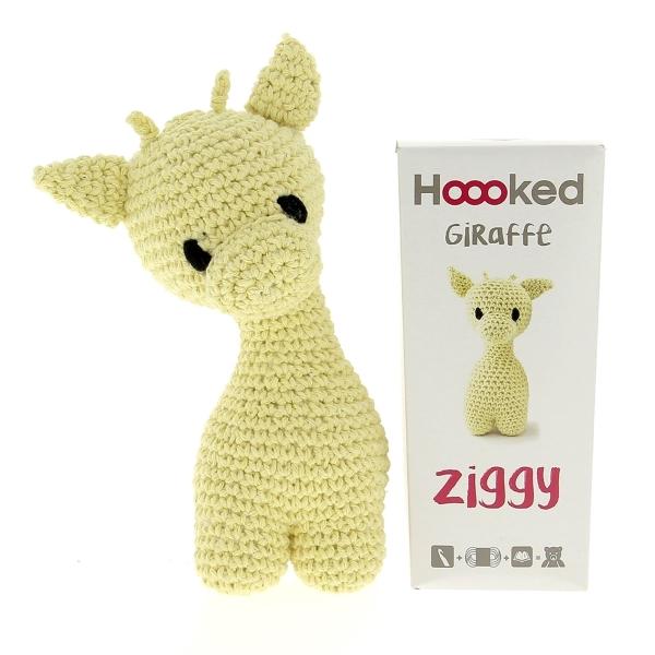 Haakpakket Giraffe Ziggy - popcorn