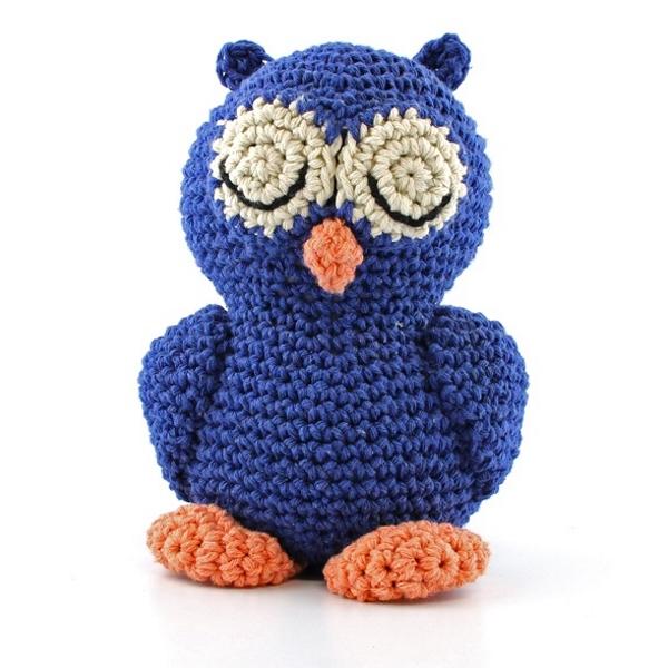 Haakpakket Sleepy Owl Eddy - ultramarine