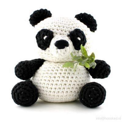 Haakpakket Panda Yin - lotus