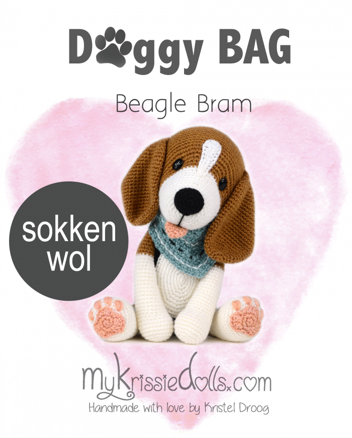 Doggybag beagle Bram sokkenwol