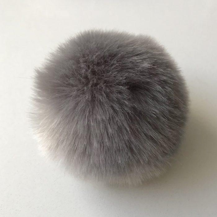 Pompom fauxfur grijs-0