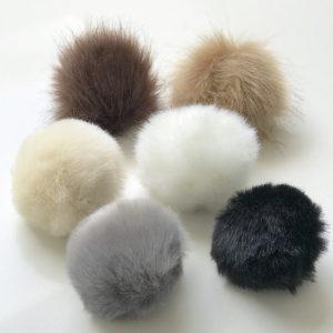 Pompom fauxfur grijs-16229