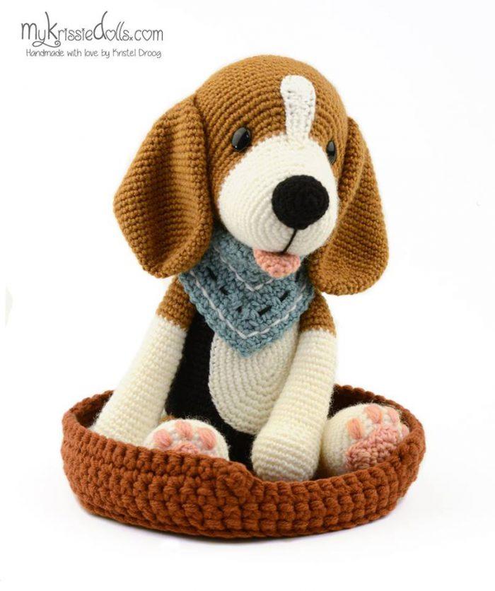 Hondenmandje Mijn hondjes van sokkenwol