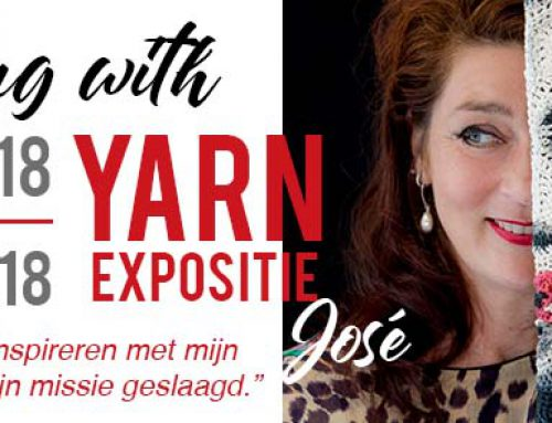 Painting with yarn Expositie José Dammers