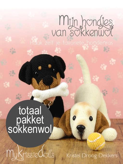 Totaalpakket mijn hondjes van sokkenwol incl boek-0
