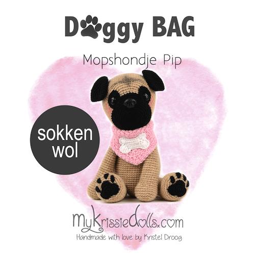 Doggybag Mopshond Pip Haak Zelf Een Hondje Van Sokkenwol