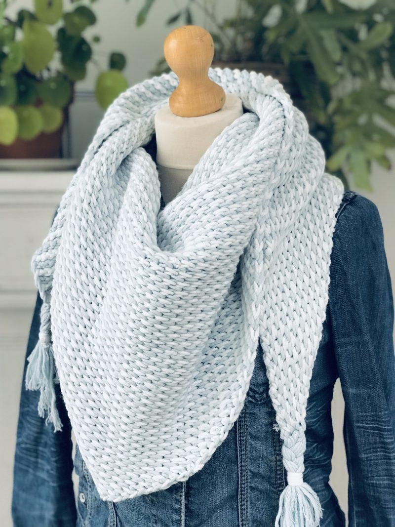 Verrassend Haakpakket tunische sjaal ton-sur-ton - Echtstudio TX-55