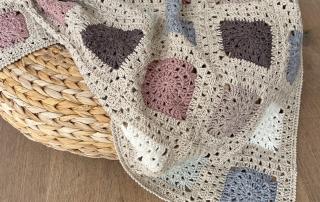 Haakpakket byClaire basic linnen blanket